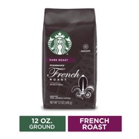 Starbucks Dark Roast Ground Coffee  French Roast  100% Arabica  1 bag (12 oz.)