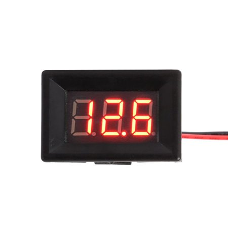 Digital Voltmeter DC 2.5V to 30V Digital Voltmeter Voltage Panel Meter 2 Wires Home Use