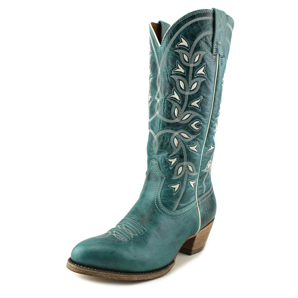 Ariat Desert Holly Women Pointed Toe Leather Blue Western Boot by Ariat