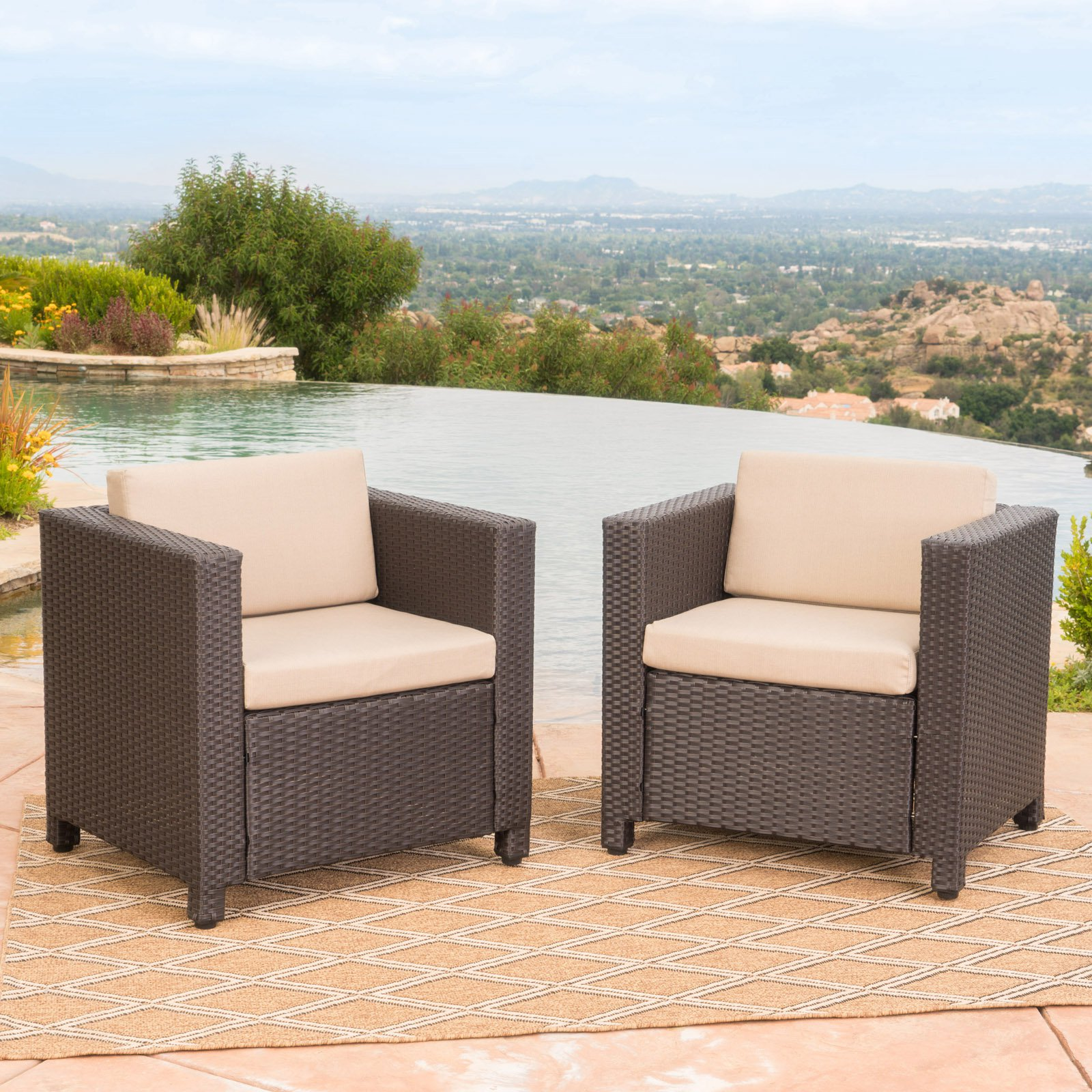 Puerta Outdoor Wicker Club Chair