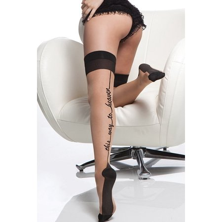 Cuban Heel Two Toned Stockings (Coquette Sheer Stocking with Cuban Heel 1791 )