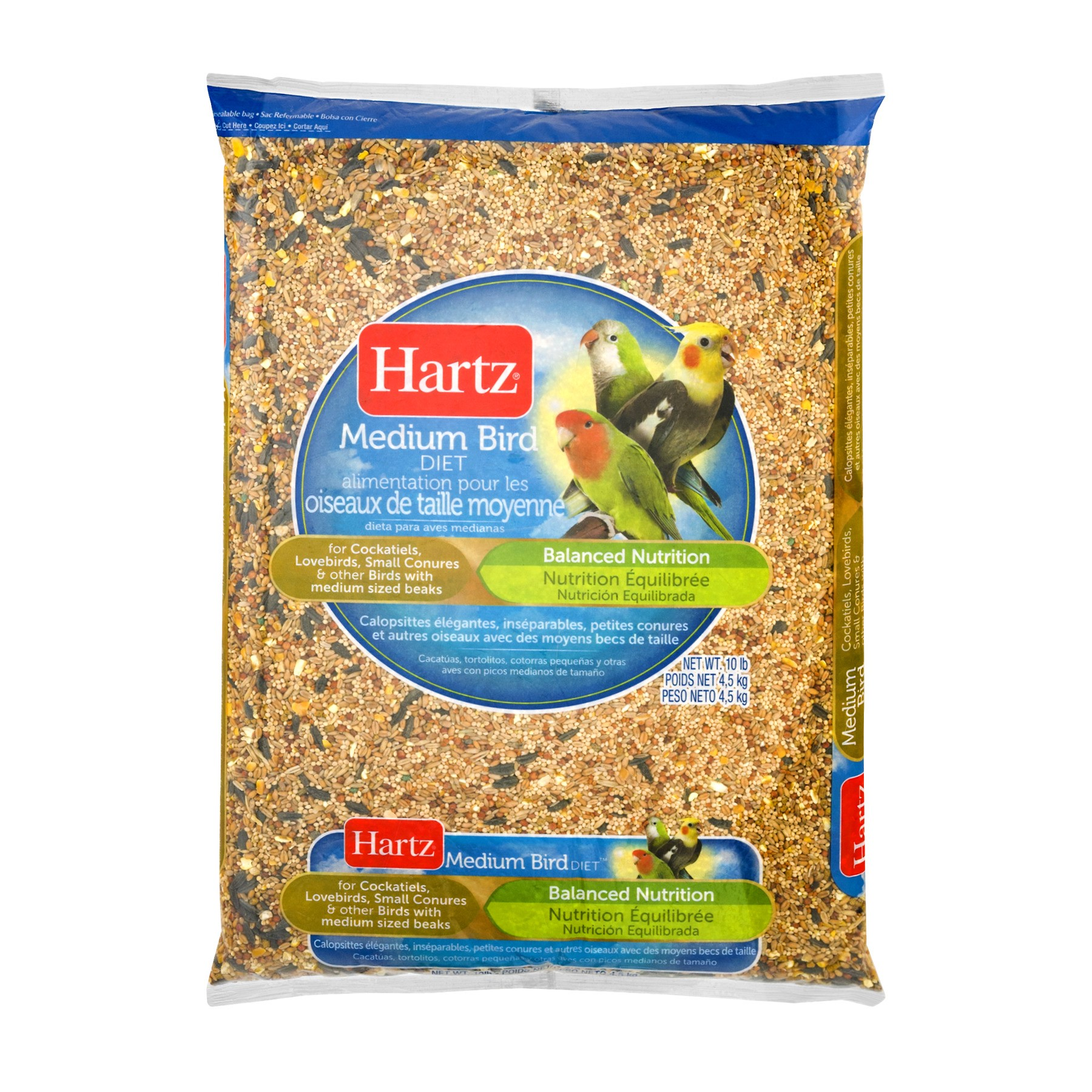Hartz Medium Bird Food, 10.0 LB