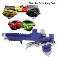 FAGINEY 1.4mm Nozzle 600CC Car Gravity Feed HVLP Air Paint Spray Gun Tool Kit, HVLP Paint Spray Gun,Paint Spray Gun