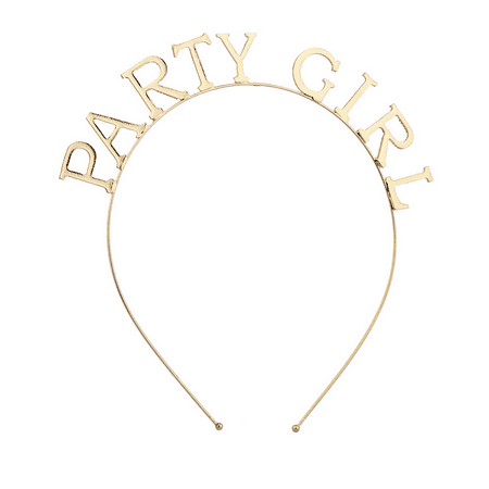 Lux Accessories Goldtone Party Girl Verbiage Bachelorette Party -
