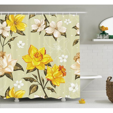 House decor shower curtain set elegant classy spring for Spring bathroom decor