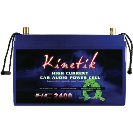 Kinetik 40928 HC BLU Series Battery Power Cells for the Ultimate Car Audio Experience (HC2400, 2.400W, 110A-Hour Capacity, 12V)