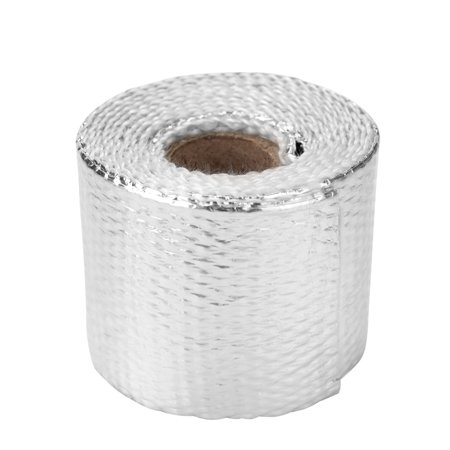 - 1.5m Fiberglass Heat Exhaust Wrap Roll Motorcycle Car Heat Insulated Wrap Turbo Intake Manifold Heat Wrap Practical Heat Shield Tape