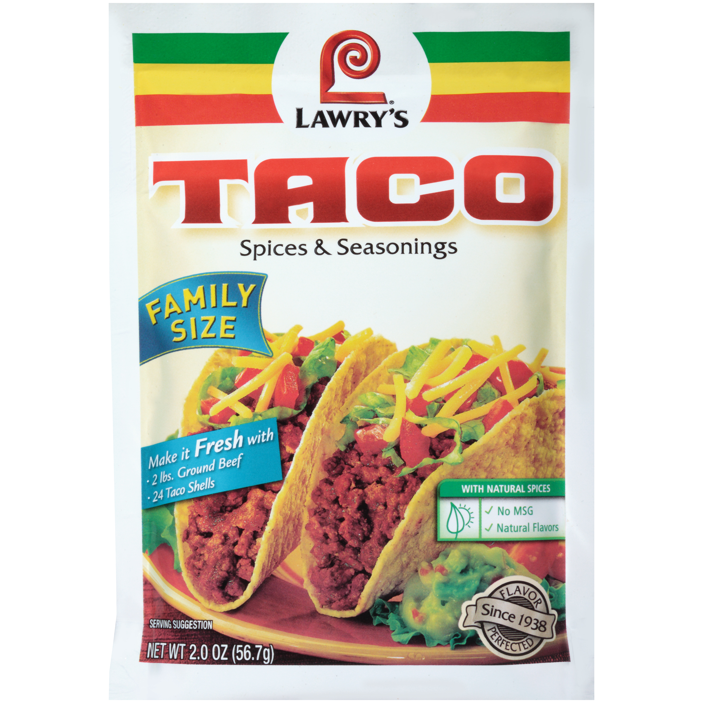 Lawry's® Family Size Original Taco Seasoning Mix, 2 OZ