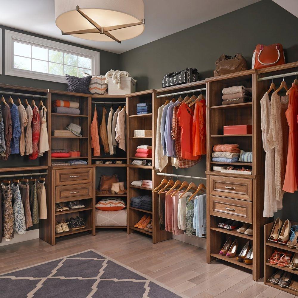 Delicieux ClosetMaid Impressions 25 In. W Walnut Deluxe Closet Kit 30882   Walmart.com