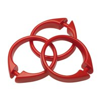 """Snap"" Plastic Shower Curtain Hooks in Red"
