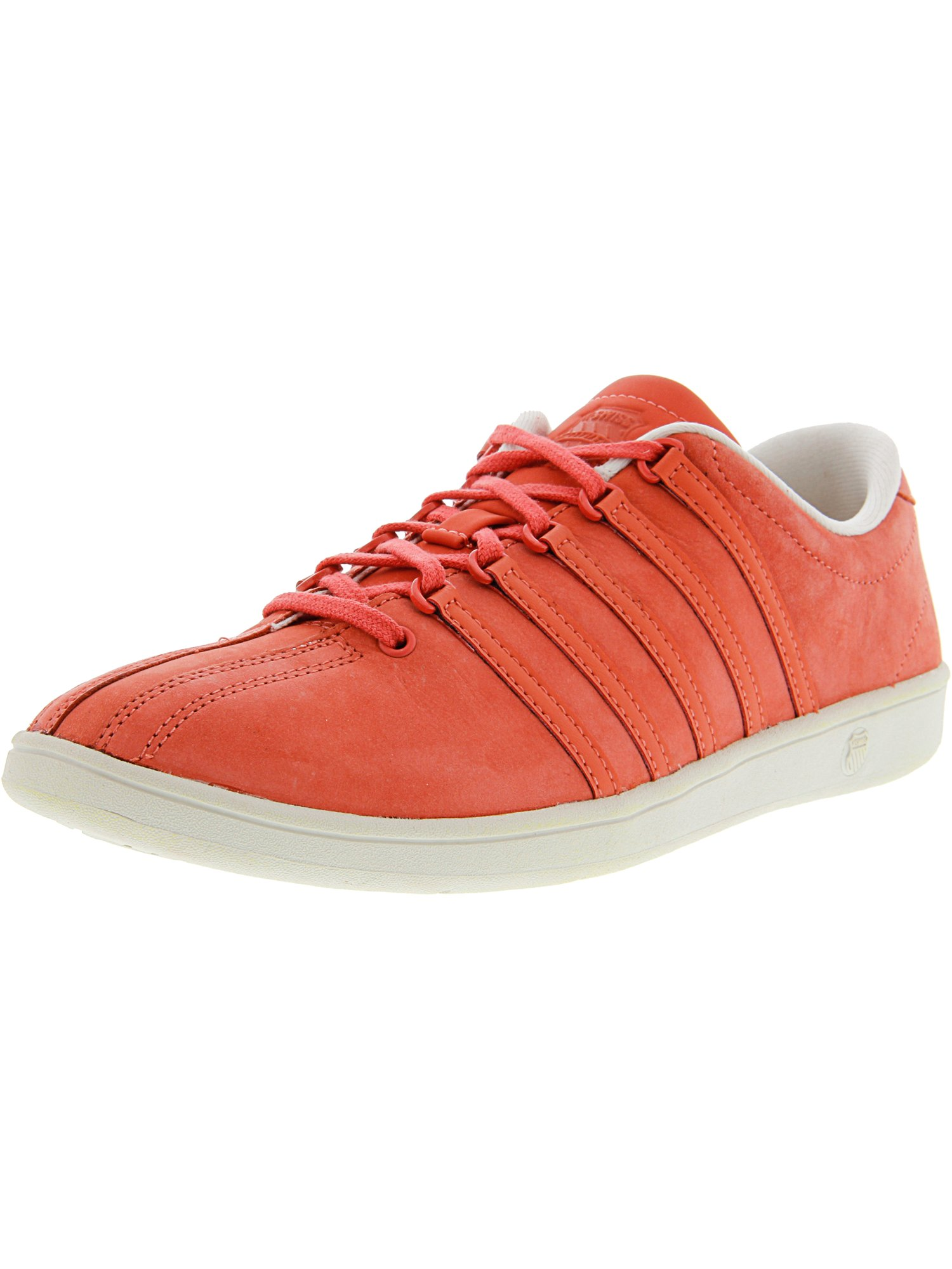 K-Swiss Women's Classic Sl P Hot Coral / Whitecap Gray Ankle-High Nubuck Fashion Sneaker - 9M