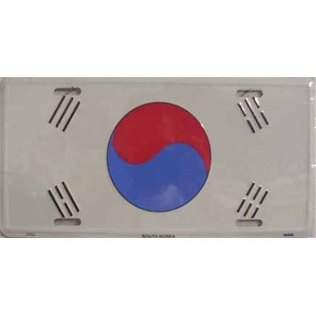 LP - 495 South Korea Flag License Plate - 2408