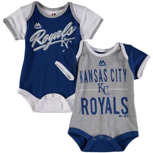 Kansas City Royals Majestic Newborn & Infant 2-Piece Bodysuit Set - Royal/White