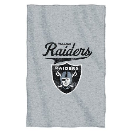 Oakland Raiders Nfl Logo Sweatshirt Material Poly Cotton Throw