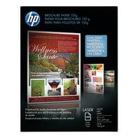 HP Laser Matte Brochure Paper, 112 Bright, 40lb, 8.5 x 11, White, 150/Pack -HEWQ6543A