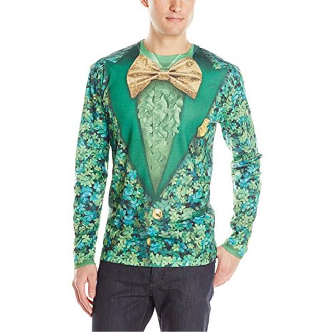 Creative Apparel Concepts F127862M Faux Real Shamrock Suit Long Sleeve T-Shirt - Medium - image 1 of 1