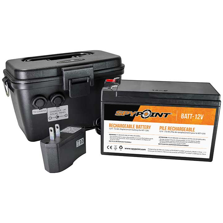 Spypoint 12V Rechargeable Battery with AC Charger Kit