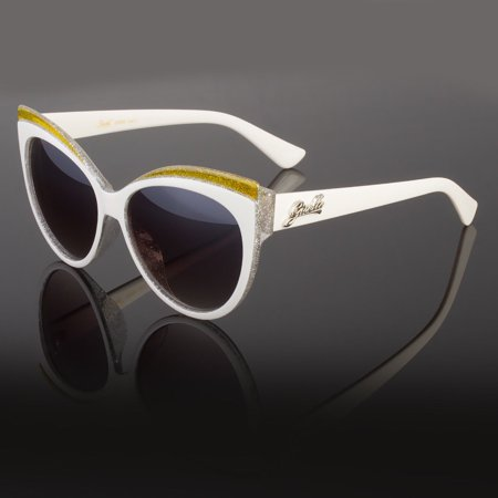 New Women's Classic Cat Eye Designer Fashion Shades Sunglasses White (White Tortoise Sunglasses)