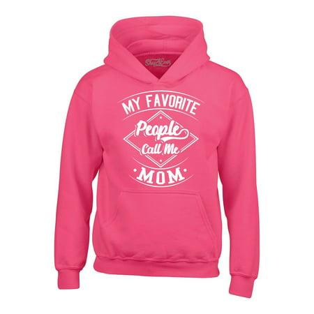 Shop4Ever Men's My Favorite People Call Me Mom Hooded Sweatshirt Hoodie People Mens Sweatshirt