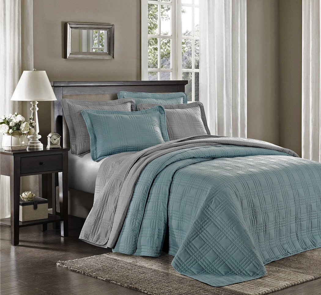 Chezmoi Collection Kingston 3-Piece Oversized Bedspread Coverlet Set