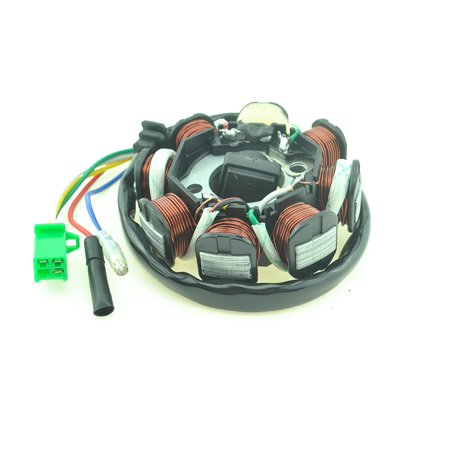 8-Poles Coils Ignition Stator Magneto GY6 125cc 150cc Moped Scooter (150 Cc Gy6 Scooters)