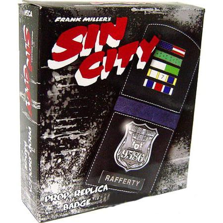 NECA Sin City Rafferty's Badge Prop Replica Badge Old West Replica
