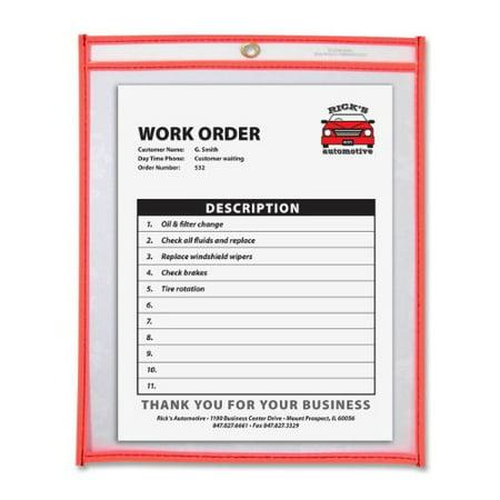 C-Line Colored Stitched Shop Ticket Holder 43912