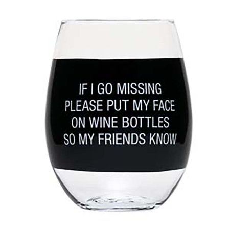 About Face Designs Wine Glass- Face on Wine (Glasses For Asian Faces)