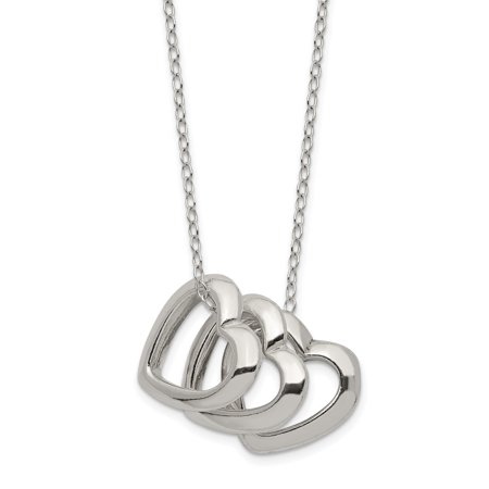 925 Sterling Silver Heart Chain Necklace Pendant Charm S/love Gifts For Women For -