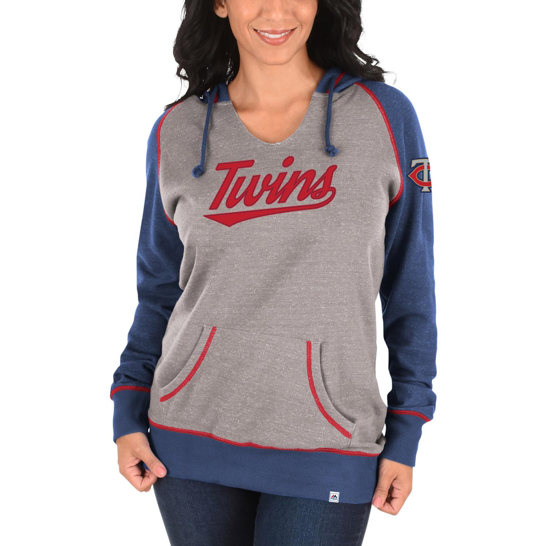 Minnesota Twins Majestic Women's Absolute Confidence Hoodie - Gray