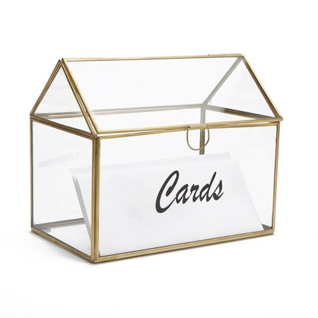 Graduation Cap Card Holder Box (Mind Reader Card Holder Box, Wedding Card Clear Box, Invitation Cards, Graduation Cards, Birthday Cards, Gift Card Holder, Glass Card Box,)