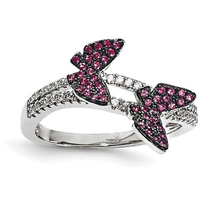 925 Sterling Silver Cubic Zirconia Cz Butterfly Band Ring Size 6.00 Fine Jewelry Gifts For Women For Her - image 7 de 7