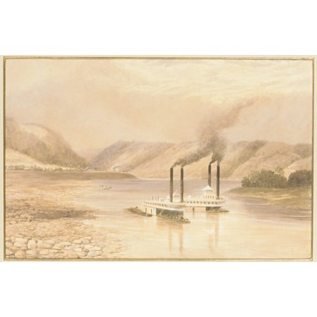 The Ohio River Near Wheeling West Virginia Poster Print By Lefevre James Cranstone  Active United States 1859 60   18 X 24