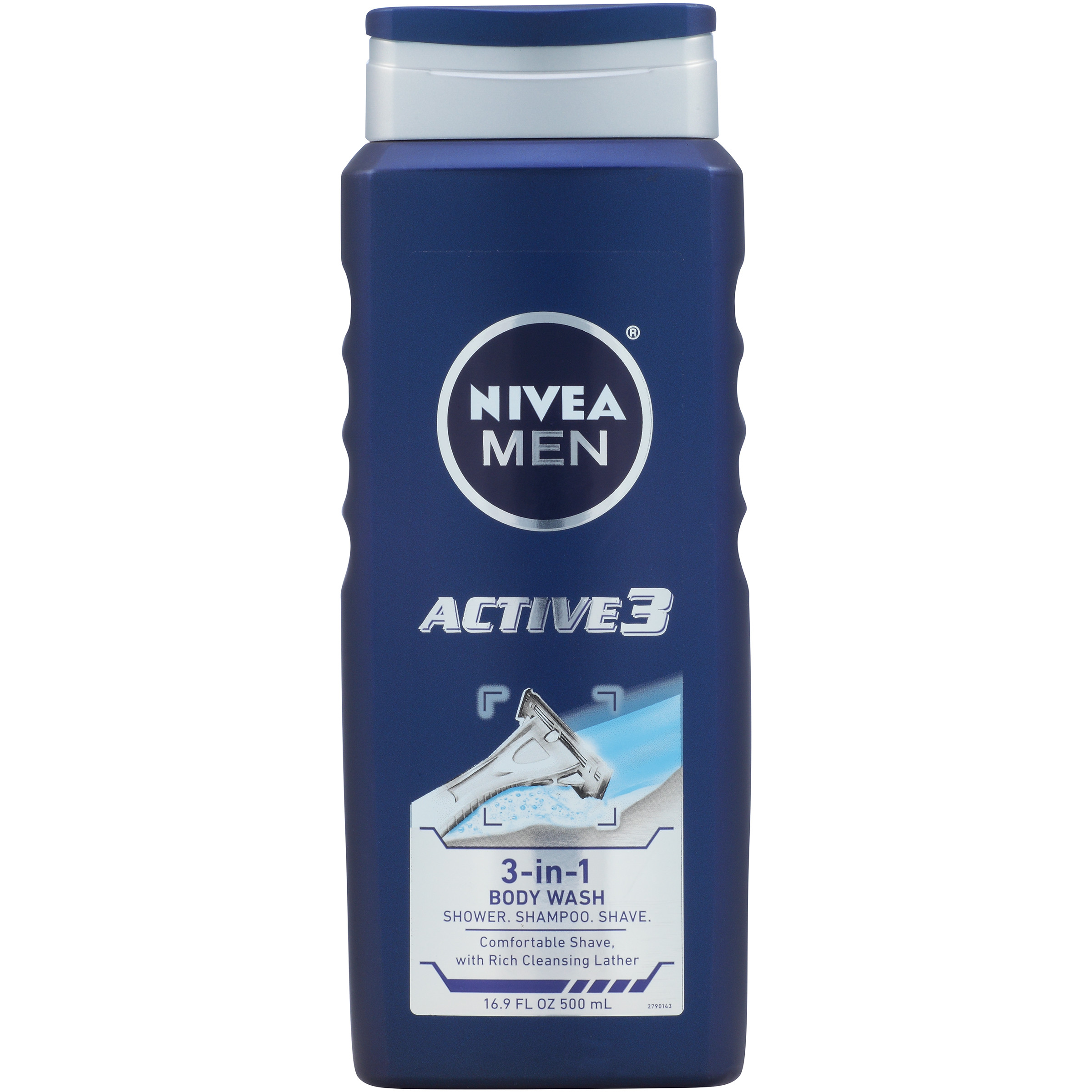NIVEA Men Active3 3-in-1 Body Wash 16.9 fl. oz.
