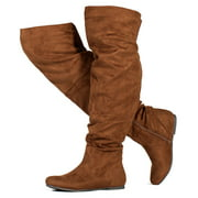 """""""Wide Calf"""" Women's Stretchy Over The Knee Slouchy Boots #19178"""