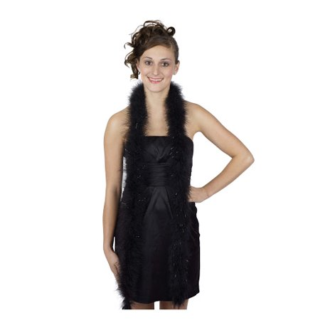 Black And Gold Feather Boa (Zucker Feather Products Marabou Feather Boas With Lurex - Black/Black)