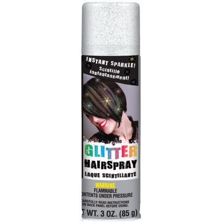 Glitter Hair Spray 3oz-Silver - Hair Spray Glitter