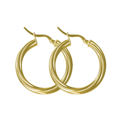 Forever New Gold Tone Twisted Hoop Earrings