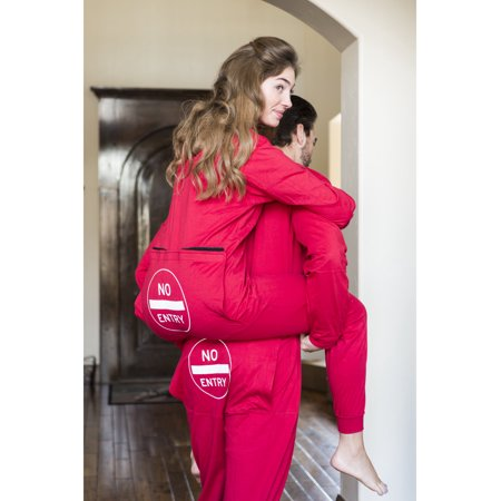 Red Long Johns Pajamas with Funny Rear Flap