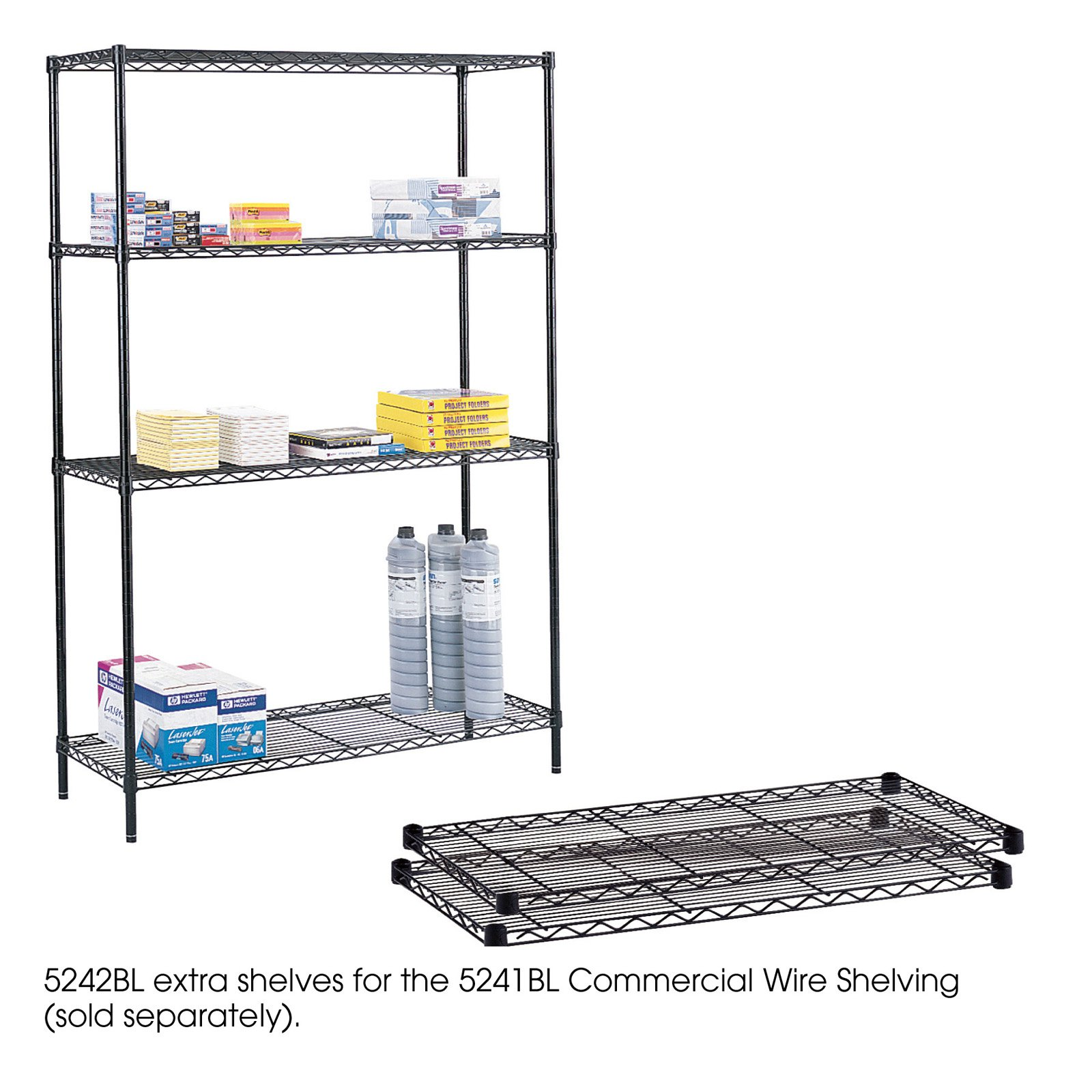 Safco 48 in. Commercial Extra Shelf Pack - Set of 2