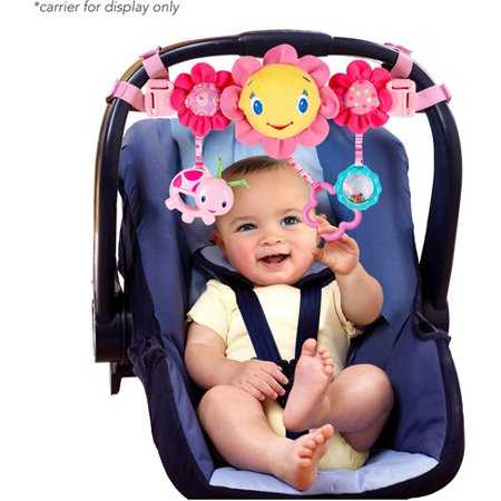 Bright Starts Pretty In Pink Petal Pusher Carrier Toy Bar - Walmart.com