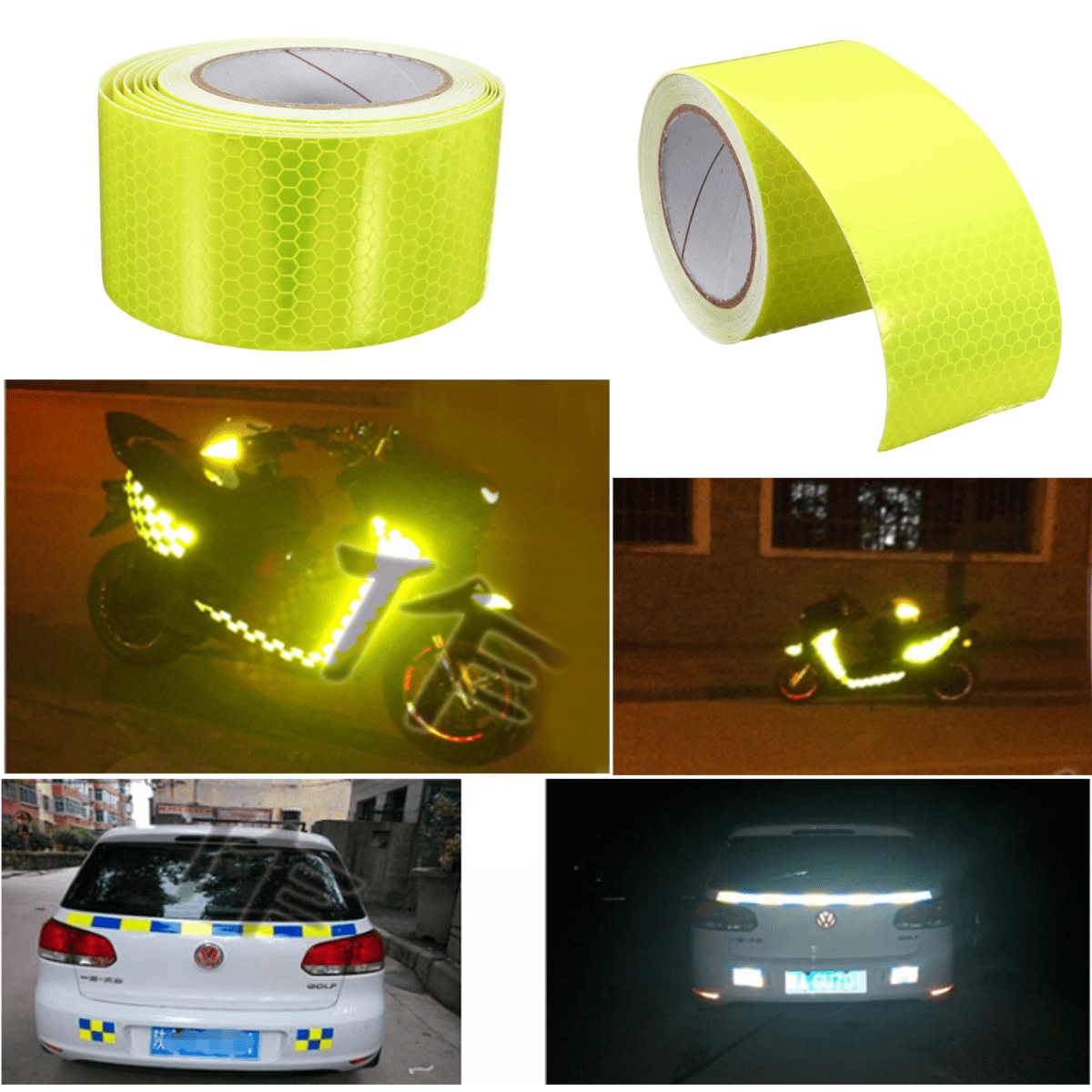 30cm 3m 5m Yellow Reflective Safety Warning Conspicuity