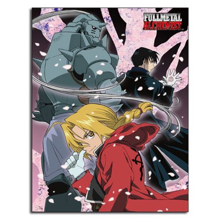 Fullmetal Alchemist Halloween Costume (Fullmetal Alchemist Anime Ed, Al, & Roy Group Sublimation Throw)