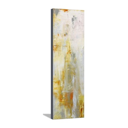 Heart of Glass I Yellow Abstract Expressionist Painting Stretched Canvas Print Wall Art By Erin Ashley