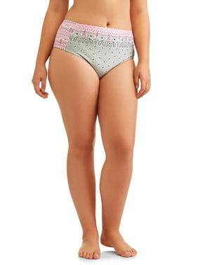 No Boundaries Juniors' Plus-Size Bandana Land Strappy Scoop Swimsuit Bottom