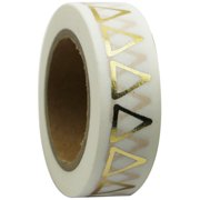 Love My Tapes Foil Washi Tape 15mmx10m-Gold Triangles