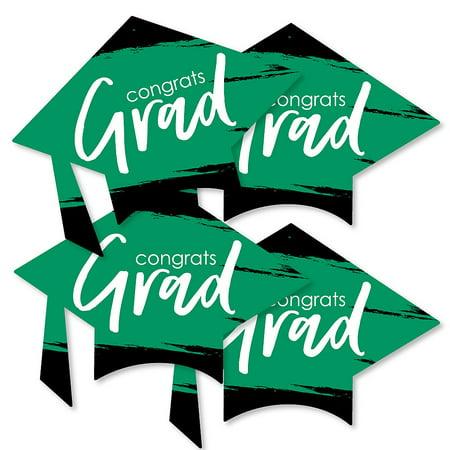 Green Grad - Best is Yet to Come - Grad Cap Decorations DIY Green Graduation Party Essentials - Set of