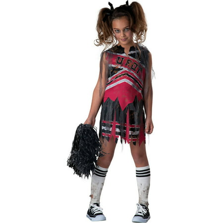 Spiritless Cheerleader Child Halloween - Halloween Kids Zombie Cheerleader Costume