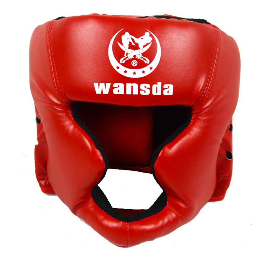 iYoung Boxing Headguard Professional Synthetic Leather MMA Protector Headgear Head Guard Sparring Helmet For UFC Fighting Judo Kickboxing