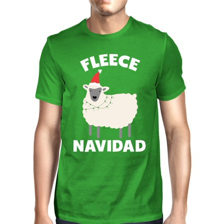 Fleece Navidad Green Unisex Shirt Funny Christmas Gift Graphic Tee (Fleece Navidad Shirt)